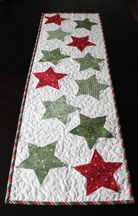 christmas star table runner pattern pdf weihnachten. Black Bedroom Furniture Sets. Home Design Ideas