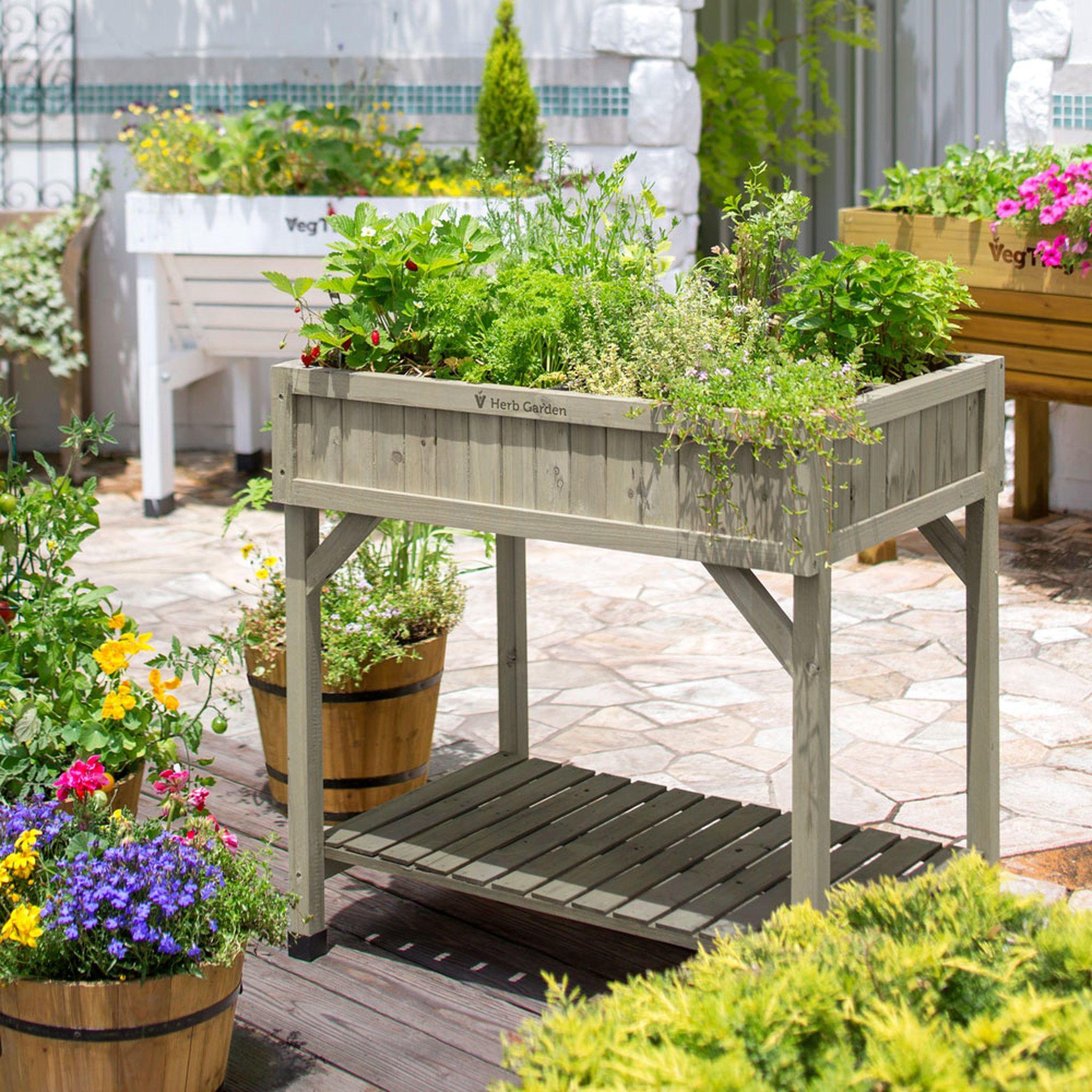 Vegtrug Herb Planter Grey Herb Planters Raised Herb Garden Herb Garden
