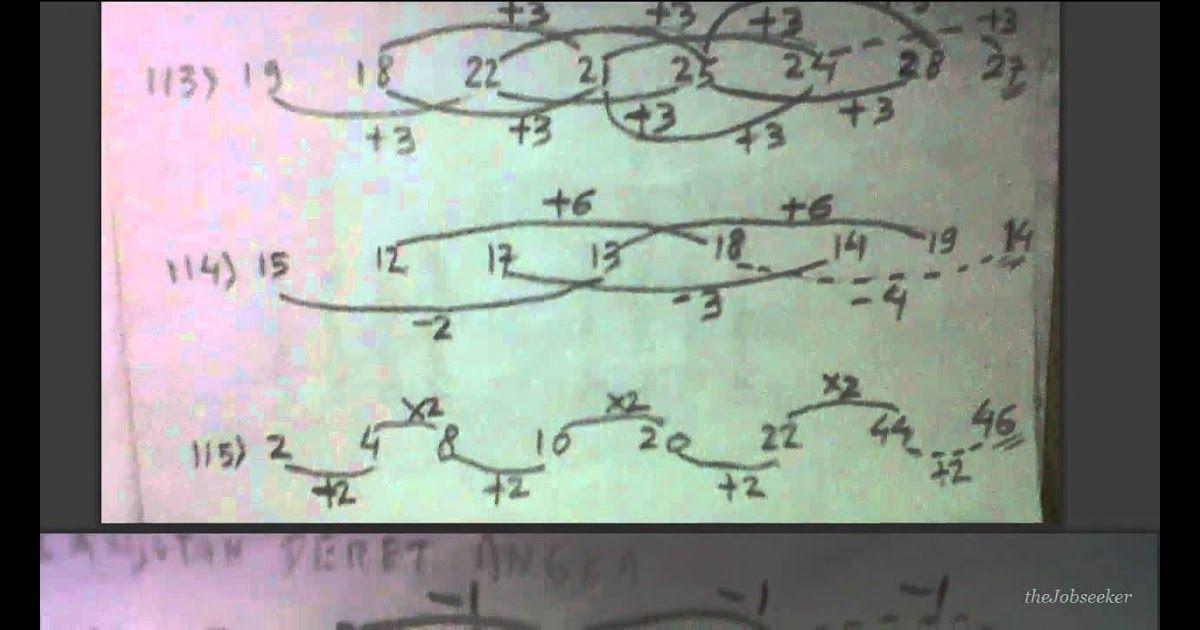 Contoh Soal Psikotes Matematika Deret Angka