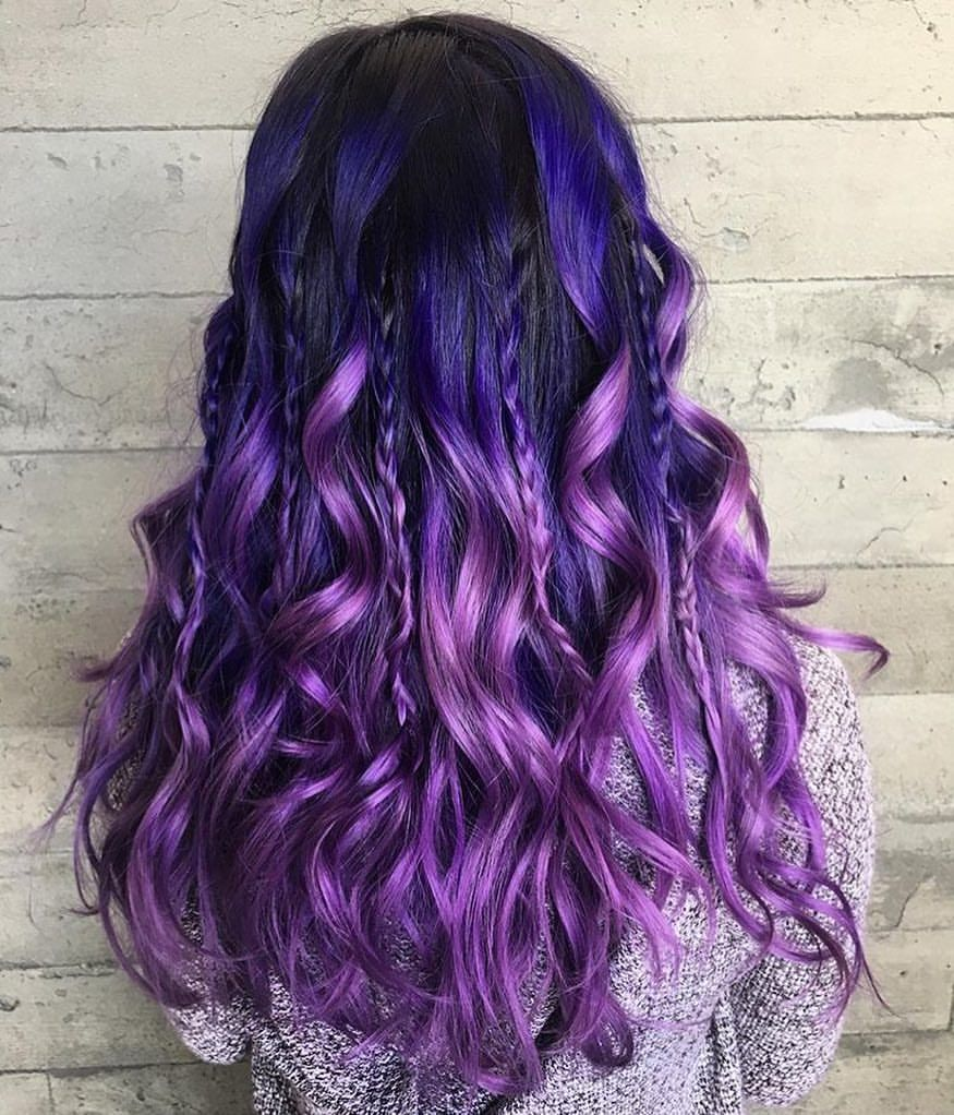 63 Purple Hair Color Ideas To Swoon Over Violet Purple Hair Dye Tips: Los Angeles Hair Salon On Instagram: By Butterfly Loft