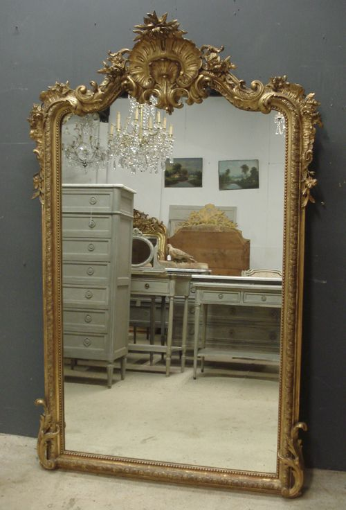 Large antique French mirror from www.jasperjacks.com