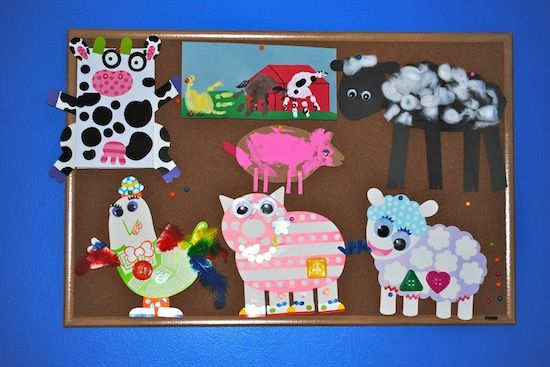 Farm Animal Crafts For Kindergarten Crafting