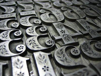 letterpress numerals