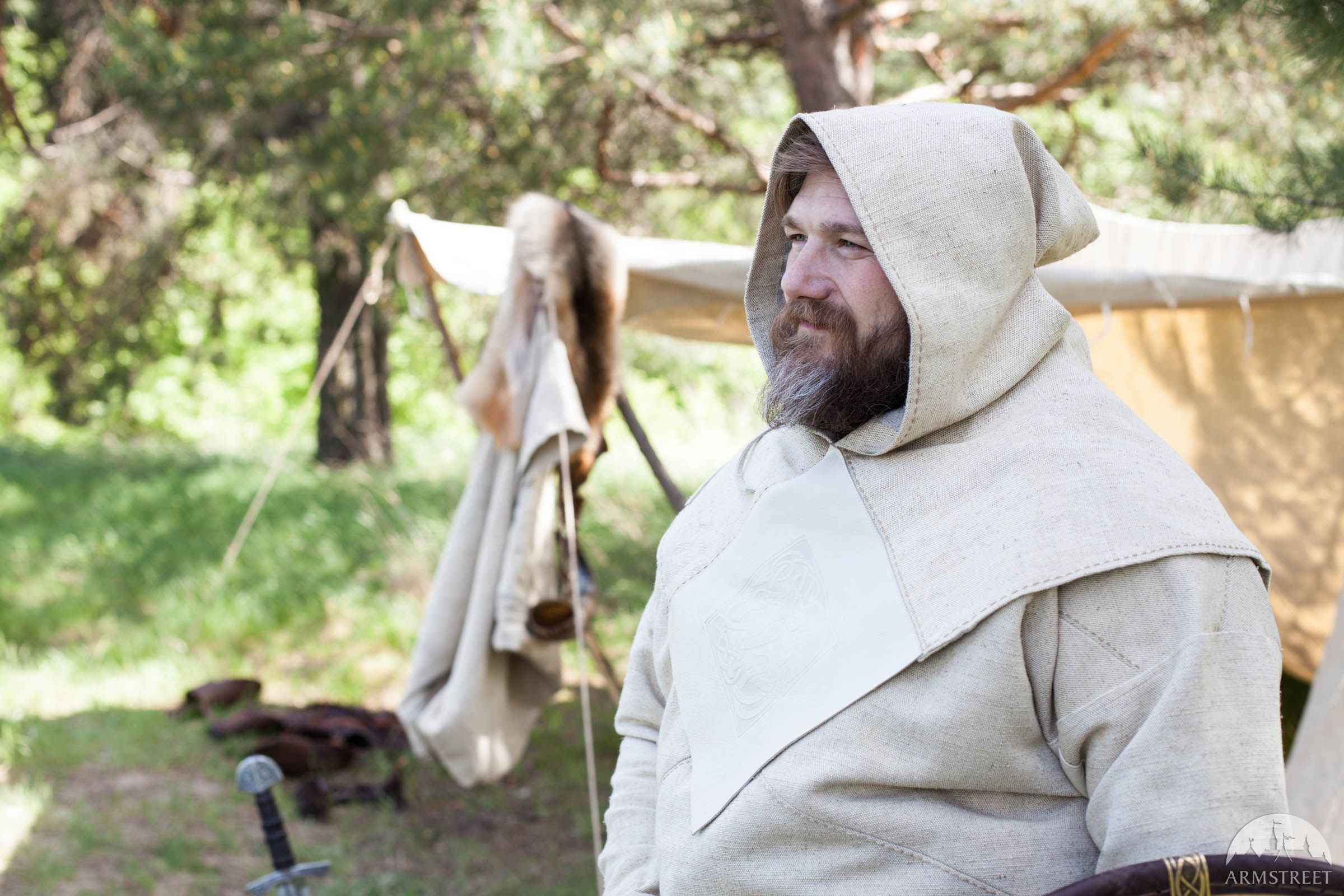"Viking Canvas Hood ""Olaf the Stormbreaker"""
