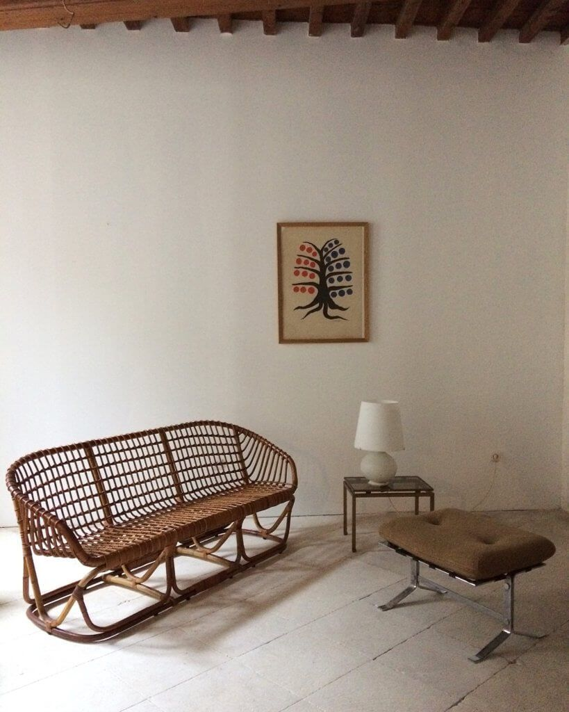 The Perfect Summer Seating, A 1960s Rattan Canape.