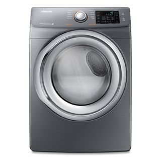 Enjoy an easy, quiet laundry day with this Samsung washer and dryer. The unique texture of the washer's Diamond Drum™ has 36% smaller water exit holes to prevent snagging for exceptional fabric care. The dryer's 11 cycles perfectly dry all your garments, from bedding to delicates. Plus, vibration reduction technology ensures quiet, smooth operation, making this pair perfect for main floor laundry rooms.