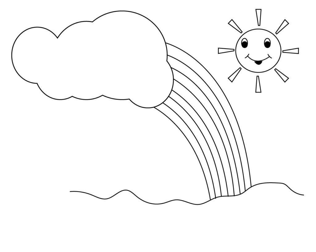 Sun And Rainbow Coloring Pages Sun Coloring Pages Moon Coloring Pages Free Coloring Pages [ 819 x 1024 Pixel ]