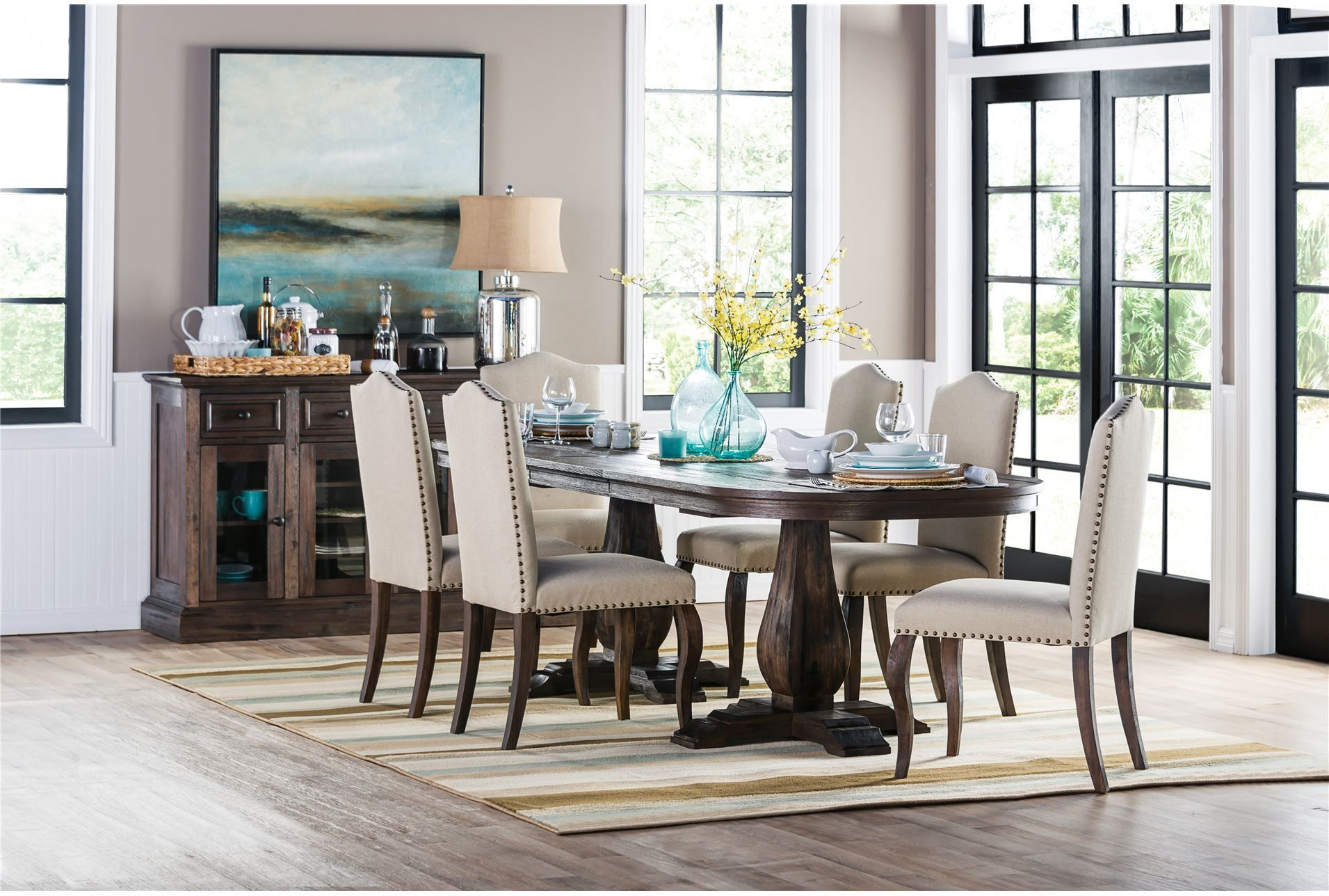 Living Spaces 77312 Room Dining Room Table Set Dining Room
