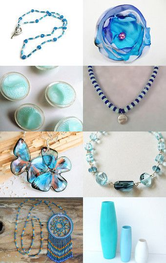 Summer Blues by Kristina Brown on Etsy--Pinned with TreasuryPin.com