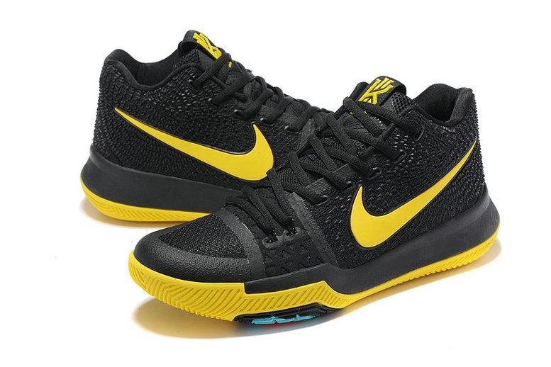 Nike Zoom Kyrie 3 Mens Original Basketball Shoes Coal Black Lemon Yellow 465562655