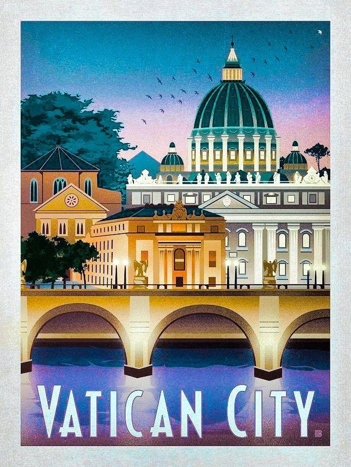 Vatican City Travel Poster.