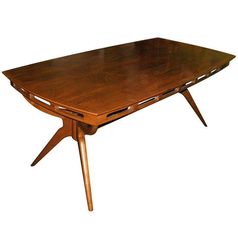 plain mid century modern dining room tables with decor