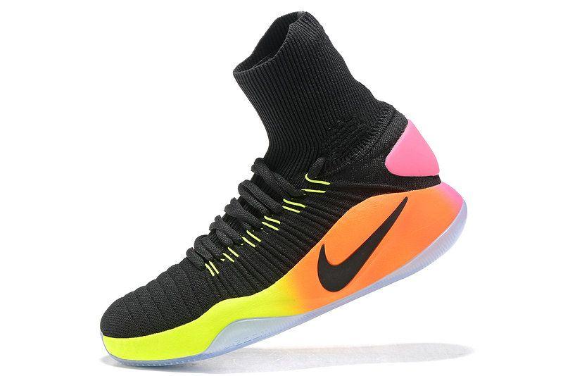 6063784933e ... black shoes 24ea8 a090b  best price free shipping only 69 nike  hyperdunk 2016 flyknit unlimited rio pink blast laser orange