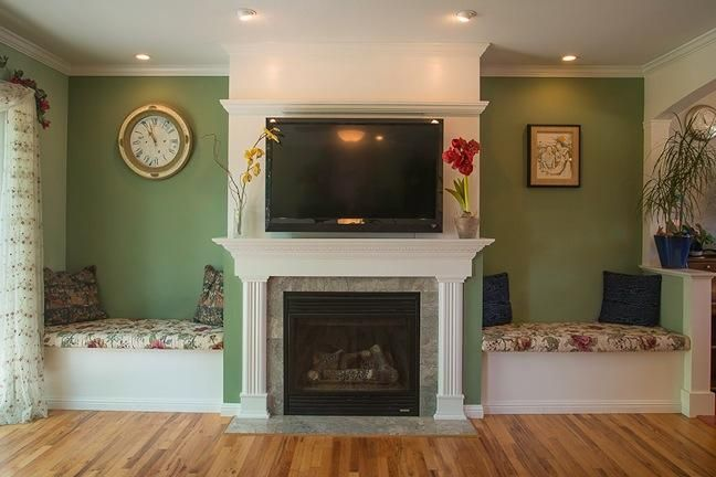 Wall Seating Next To Fireplace Google Search Fireplace