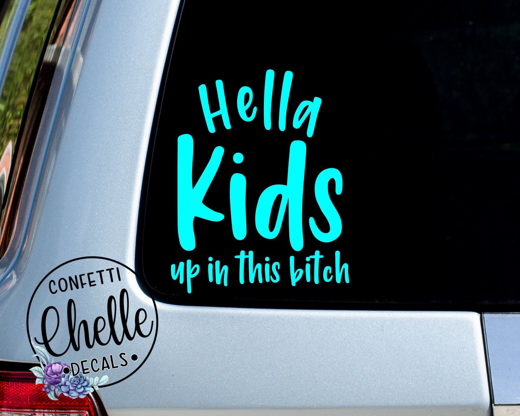 Funny Baby Up in This Bitch Sticker Decal