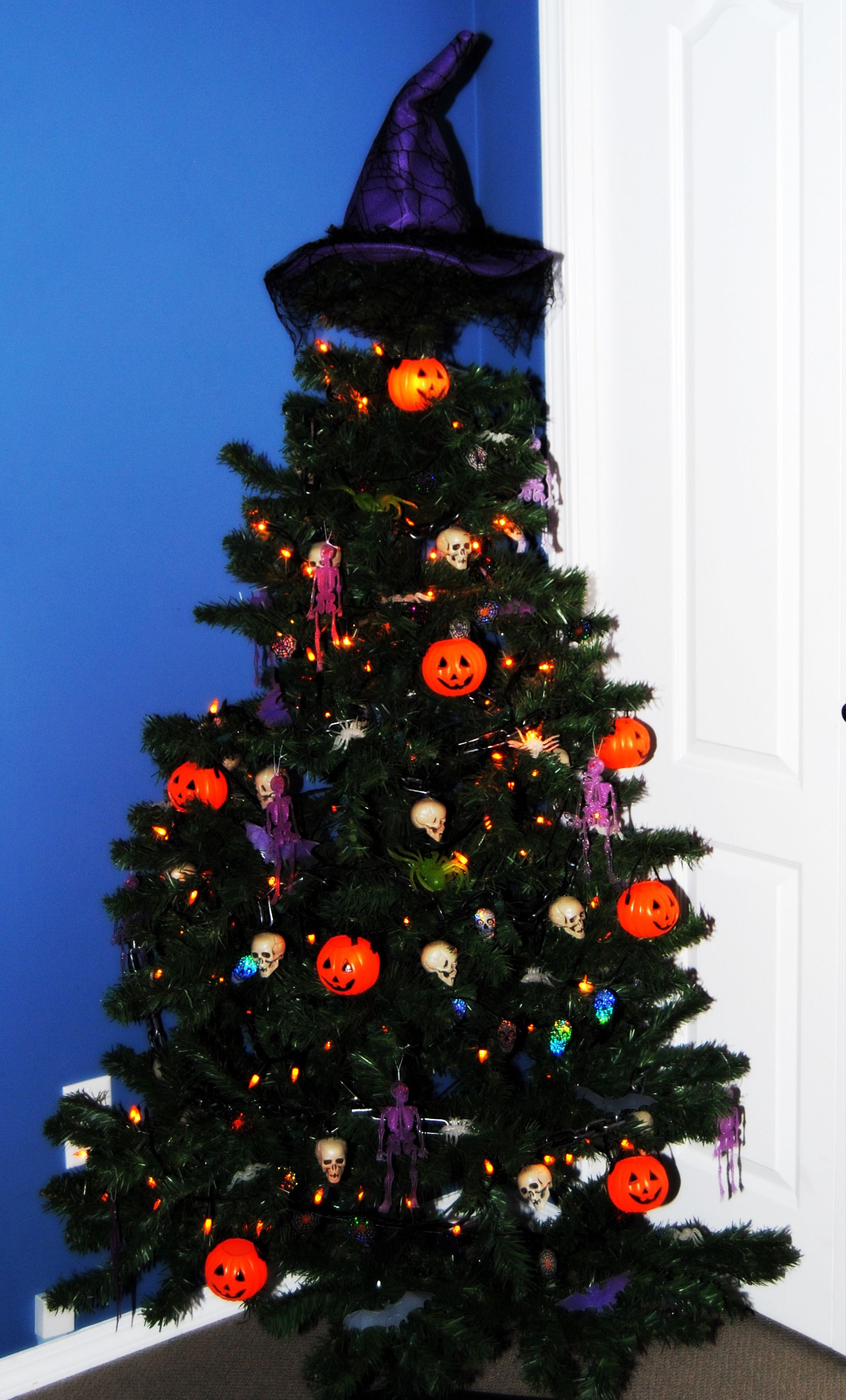 My first Halloween Tree!  All done with great finds at Dollarama