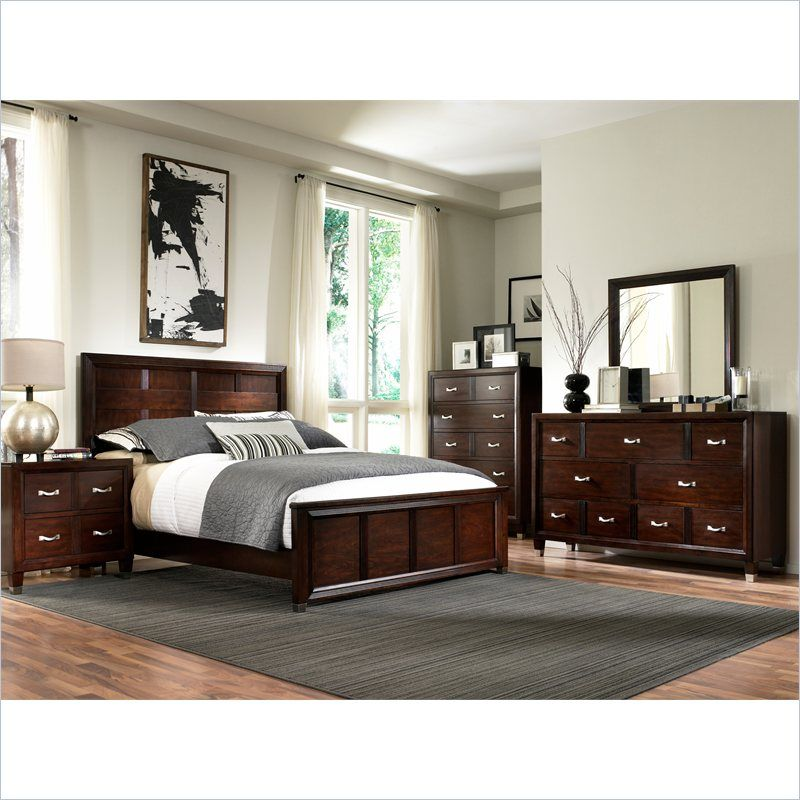 Simple Broyhill Eastlake 2 Panel Bed 4 Piece Bedroom Set in Warm Brown Cherry For Your Plan - Review broyhill bedroom set Amazing