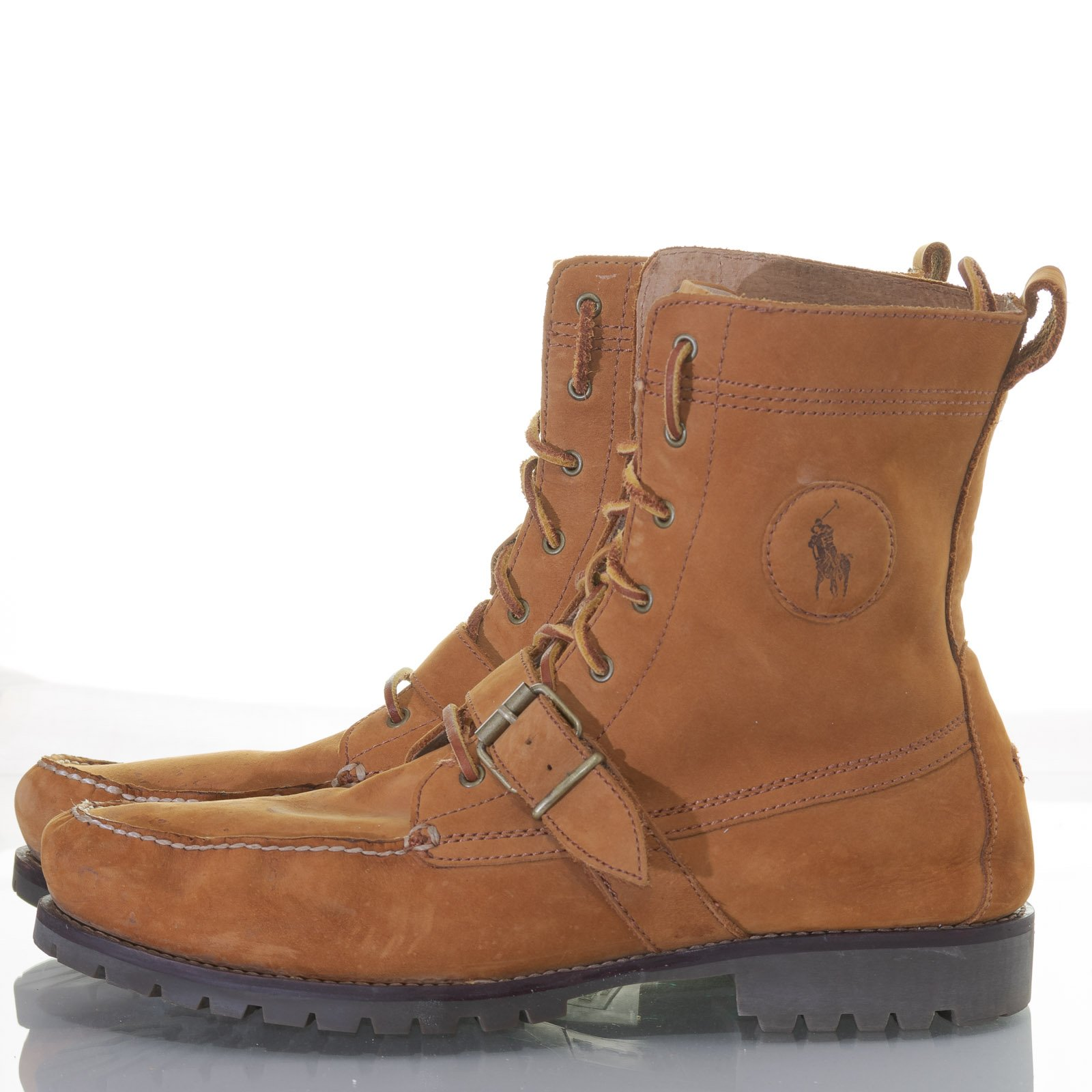 Polo Ralph Lauren Men S Ranger Boots Sz 14d Buckle Suede Leather
