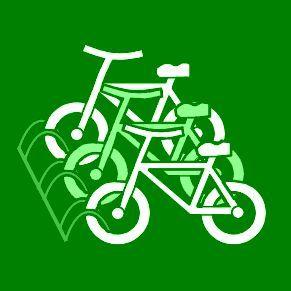 Pictogram Fietsenrek groen