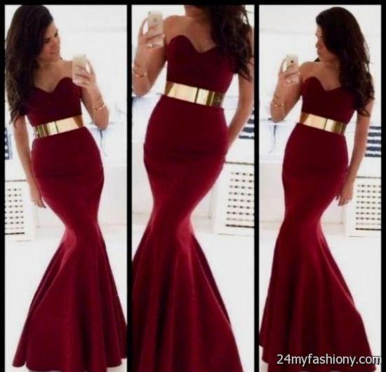 maroon long sleeve prom dress 2016-2017 » B2B Fashion ...