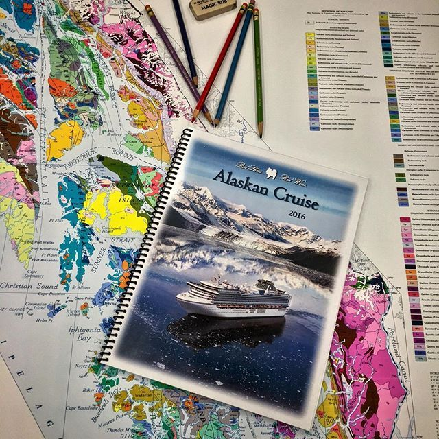 Today the vacation booklet and geologic map of Southeast Alaska got