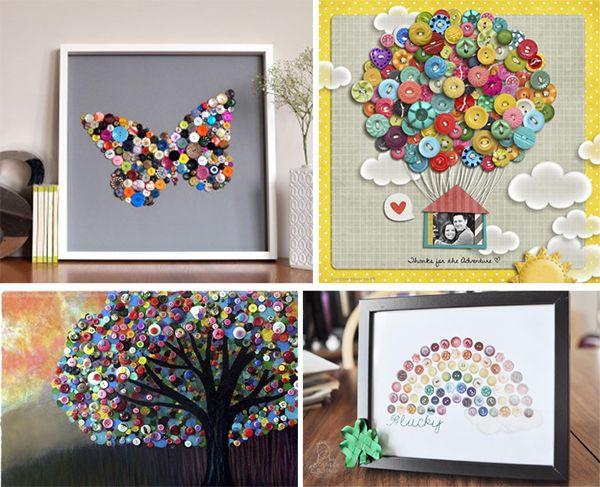 Cuadros diy cuadros y marcos botones ni os y regalos - Marcos para cuadros originales ...