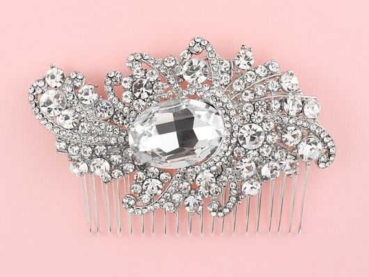 Old Hollywood Crystal Comb - Kate Ketzal Jewellery & Adornments