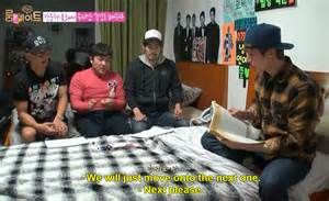 Dong Wook and Se Ho teaching Korean to American Joon and Japanese Ryohei. Roommates 2- Bing Images