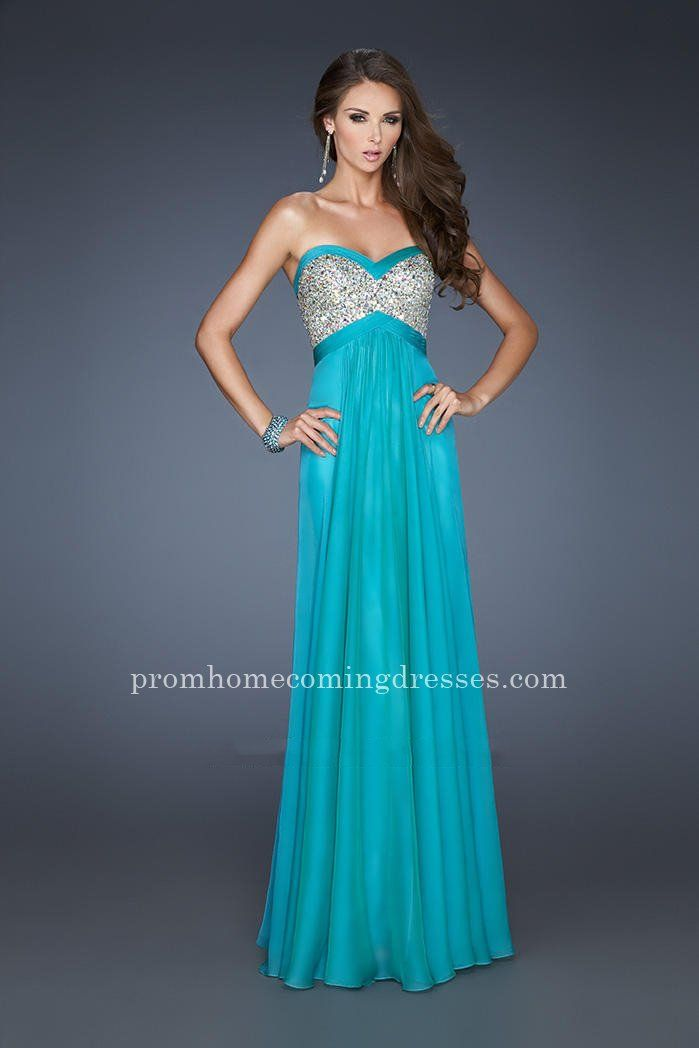 Teal Peacock Prom Dress