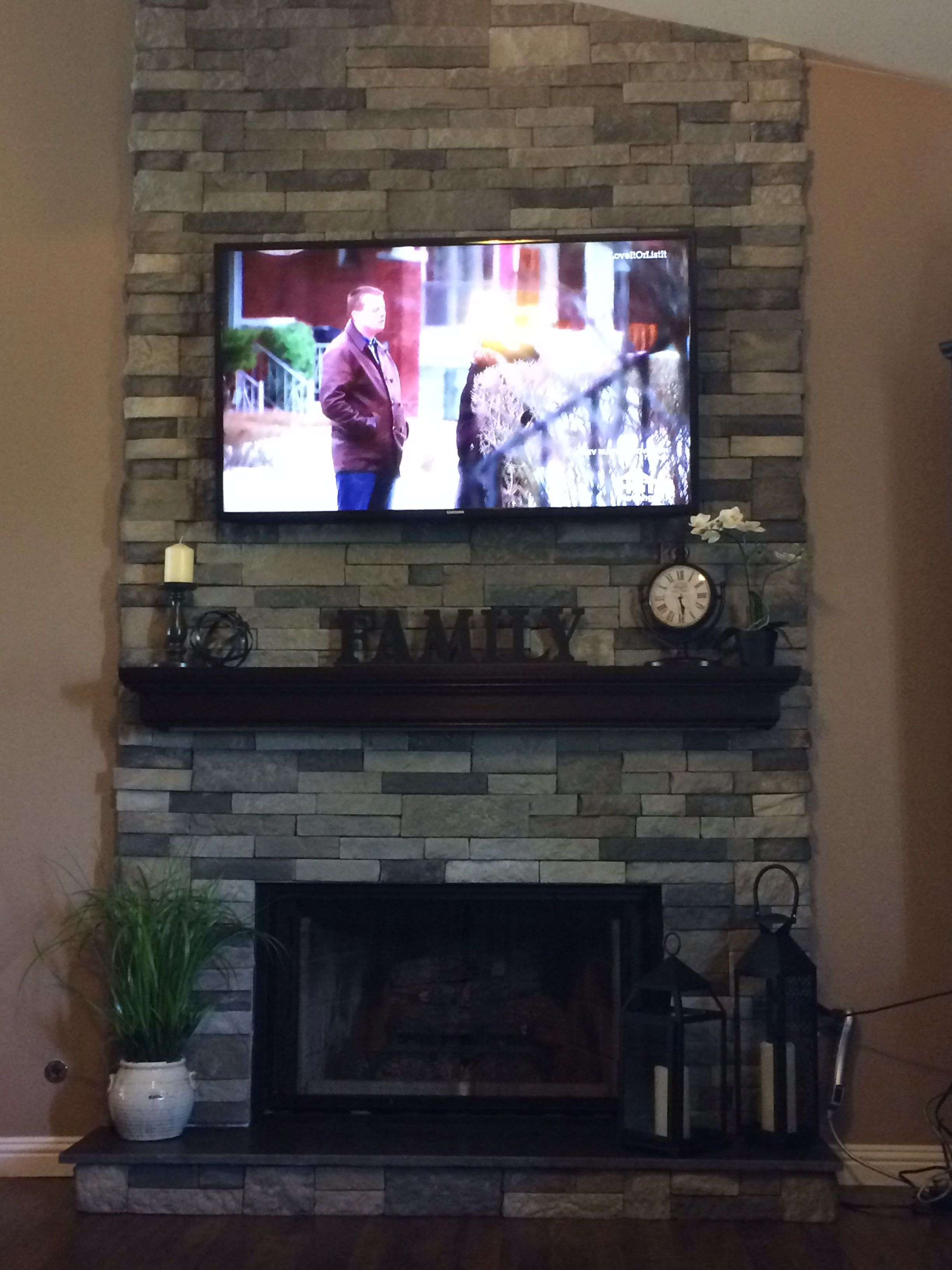 my very own fireplace renovated using airstone from lowe u0027s for