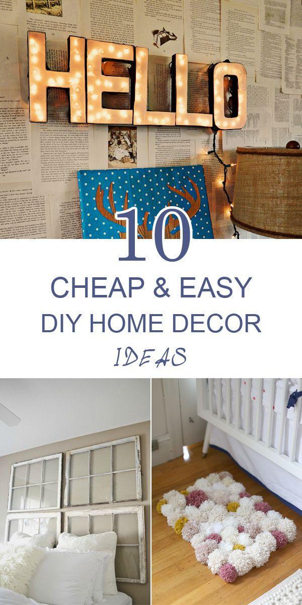25 Home Decor Ideas For 50 Or Less Easy Diy Decor Diy Home