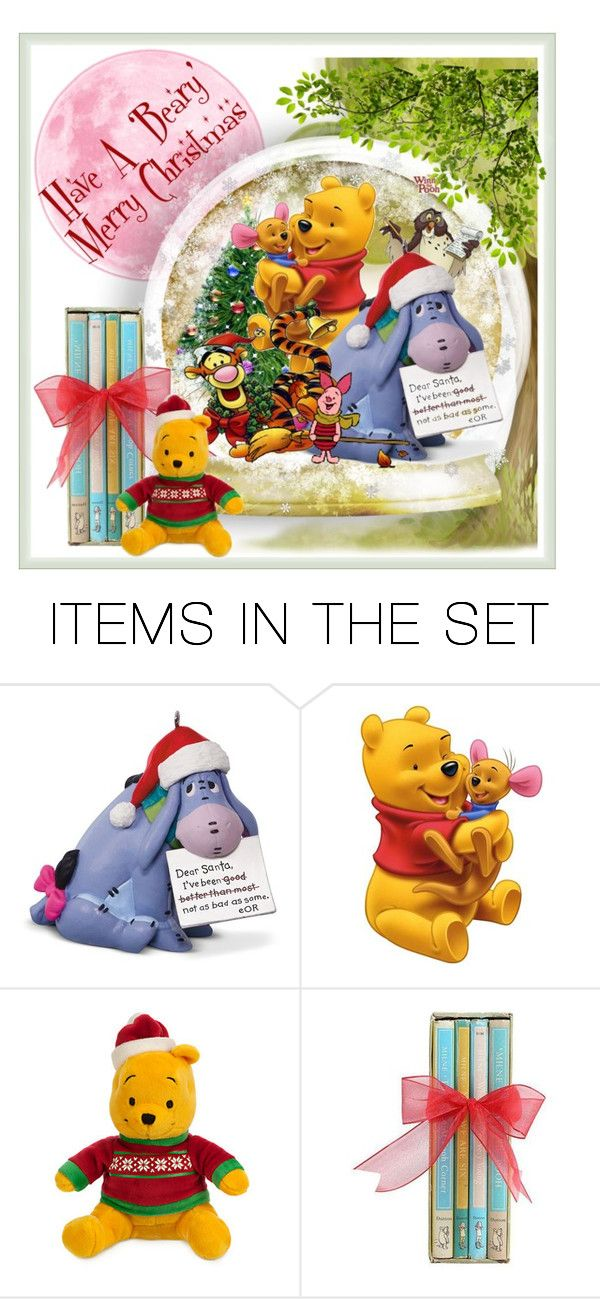 """Beary Merry Christmas"" by aurorasblueheaven ❤ liked on Polyvore featuring art"