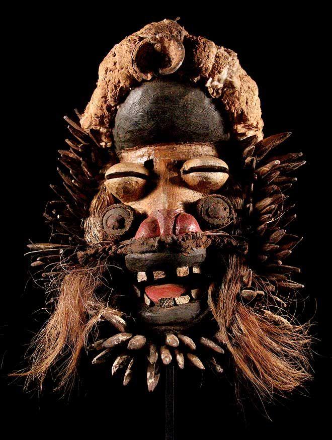 ** Maske der Ngere, We / Elfenbeinküste ** incl. Ständer **