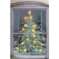 Battery Operated Lighted Canvas Print Glistening Pines
