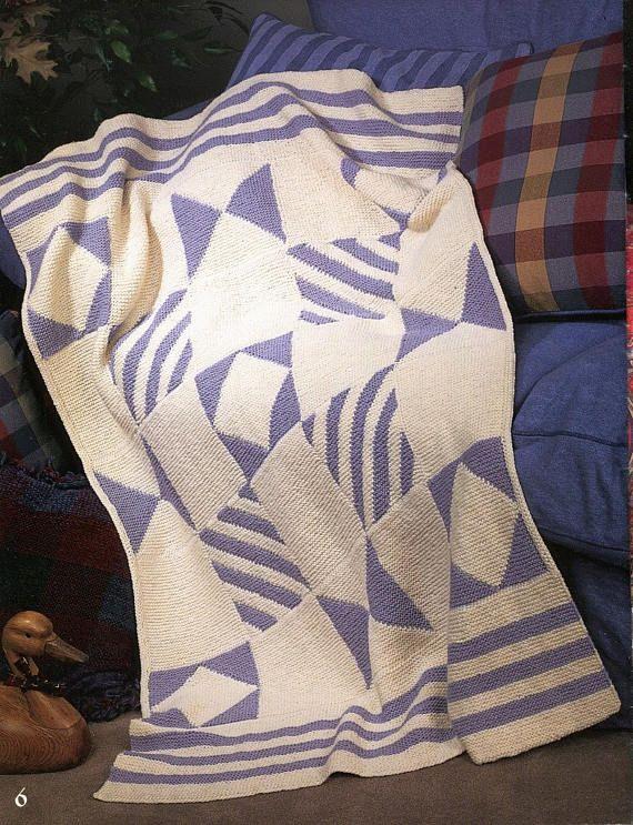 Knitting 8 AFGHANS Beautiful & Unique Designs Pattern Book - Leaf ...