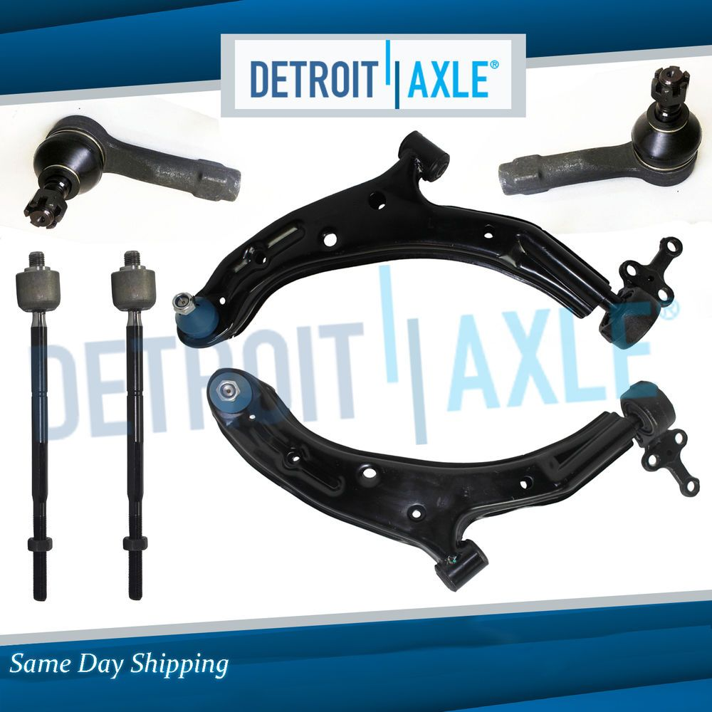 New 6pc Complete Lower Front Control Arm Suspension Kit for 02-06