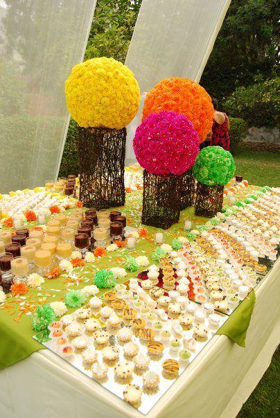 Como decorar mesas de buffets para bodas pasabocas - Como decorar mesas para fiestas ...