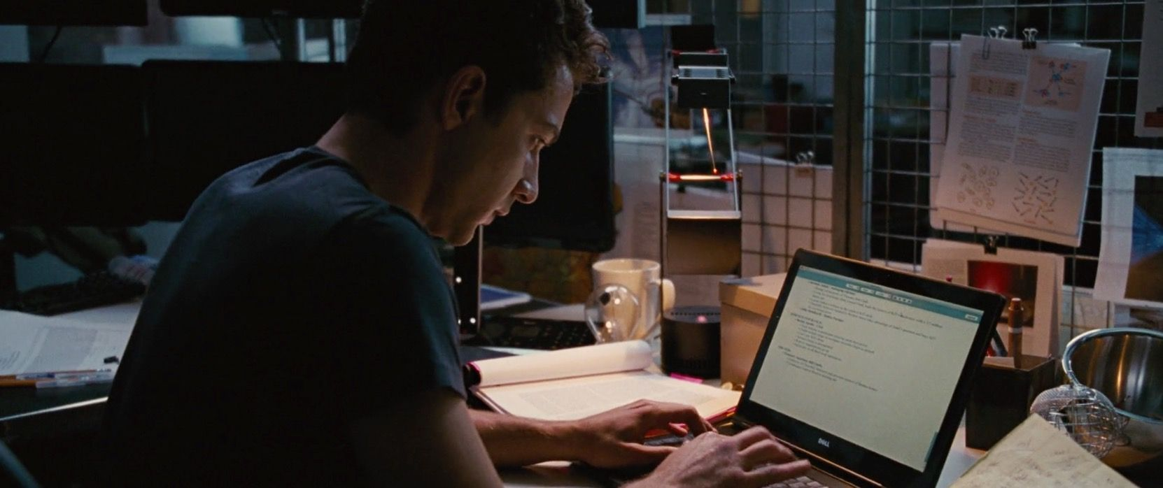 dell laptop used by shia labeouf in wall street money on wall street movie id=64821