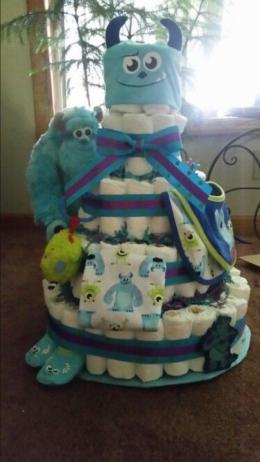 Monsters INC Diaper Cake baby ideas Pinterest Diapers