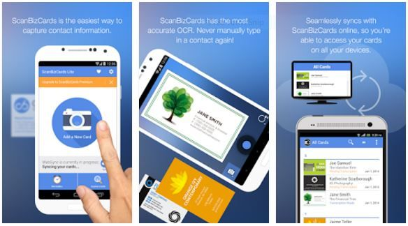 Android business card scanner gratis visitkort design pinterest android business card scanner gratis reheart Images