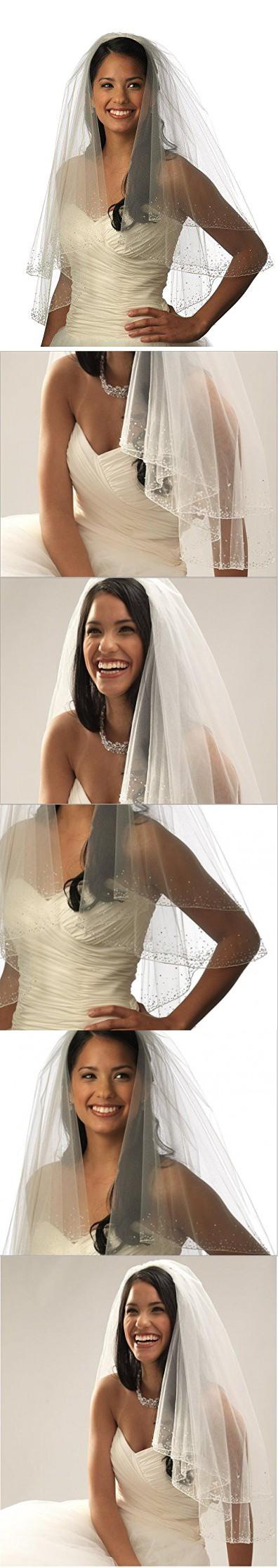 Itacazzo t ties new cut wedding blusher veils short wedding veil