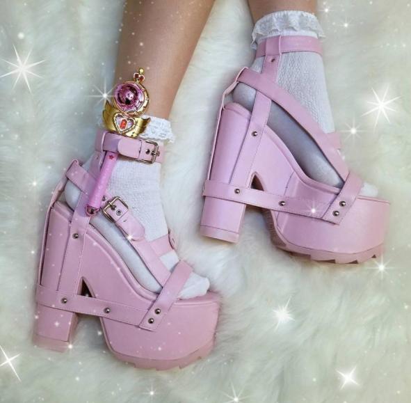 4b4b3f195d0 Because everybody needs a pair of pink platforms    YRU Nightcall Pink  Platform Heels