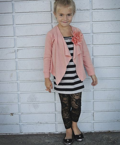 Take a look at this Pink Blossom Open Cardigan - Toddler & Girls on zulily today!