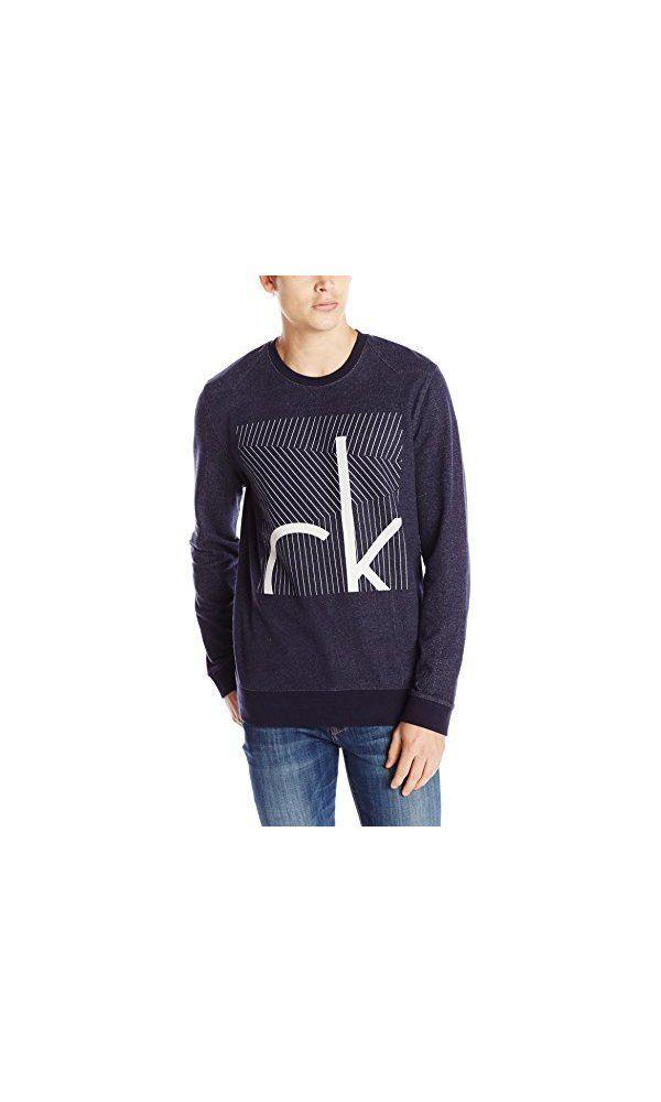 0Calvin Neck Men Liner Klein S Box Crew Jeans Sweatshirt nwOP0k