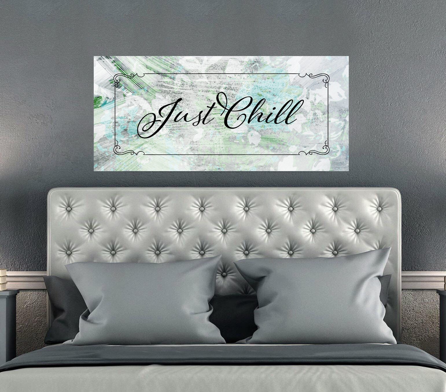 Bedroom Wall Art Just Chill Wood Frame Ready To Hang Bedroom Decor On A Budget Wall Decor Bedroom Bedroom Decor For Couples
