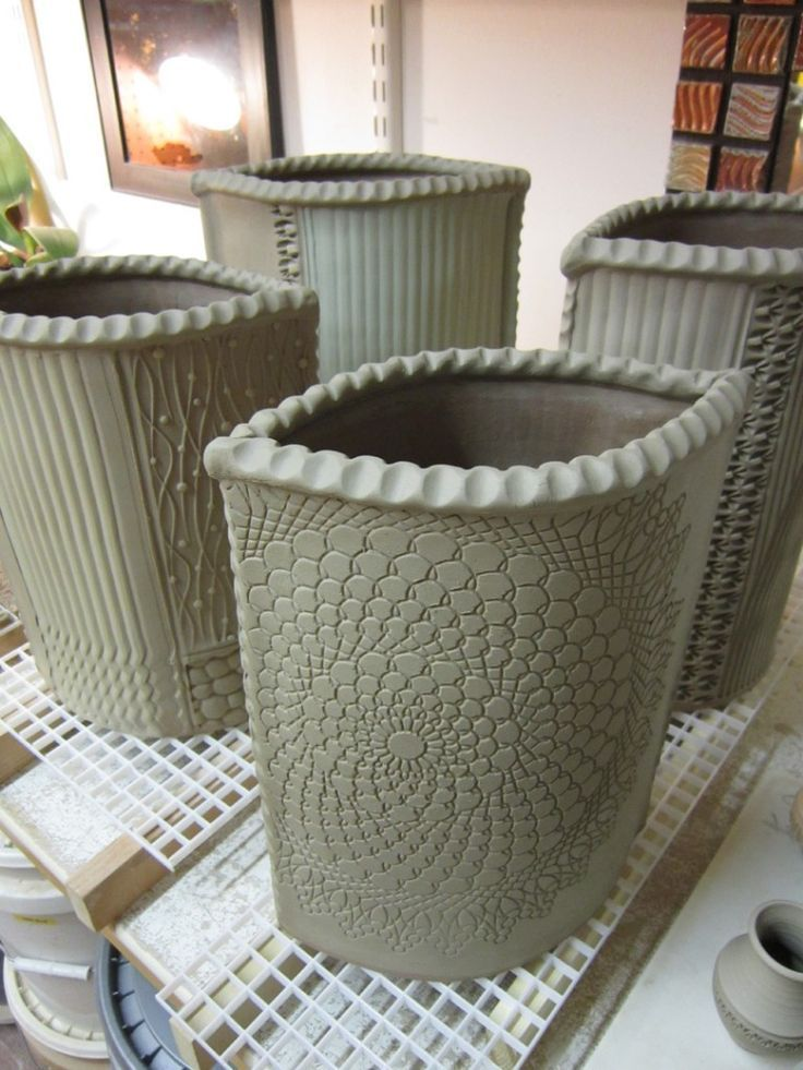 Flower pot hard slab t pferideen keramik t pferei und keramik ideen - Keramik ideen ...