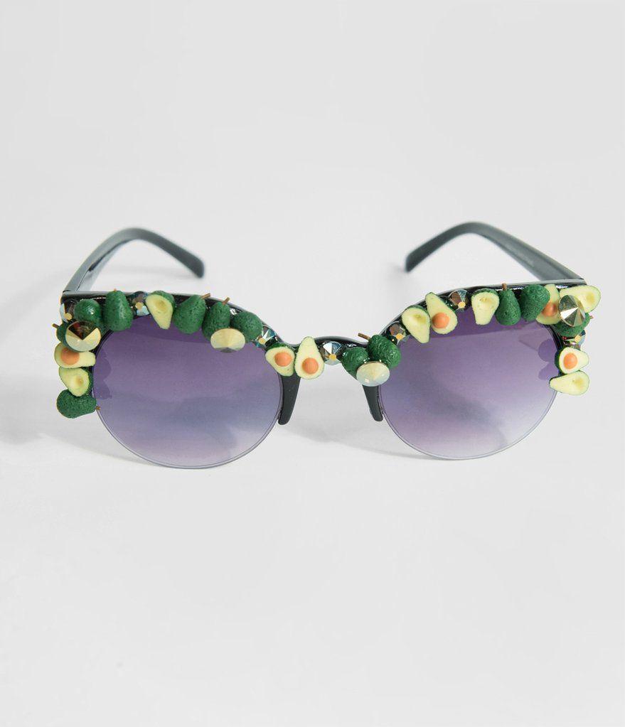 eb456b17f1 Holy Tacomole Sparkling Avocado Half Frame Sunglasses