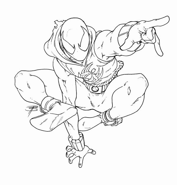 Miles Morales Coloring Page Beautiful Scarlet Spider ...