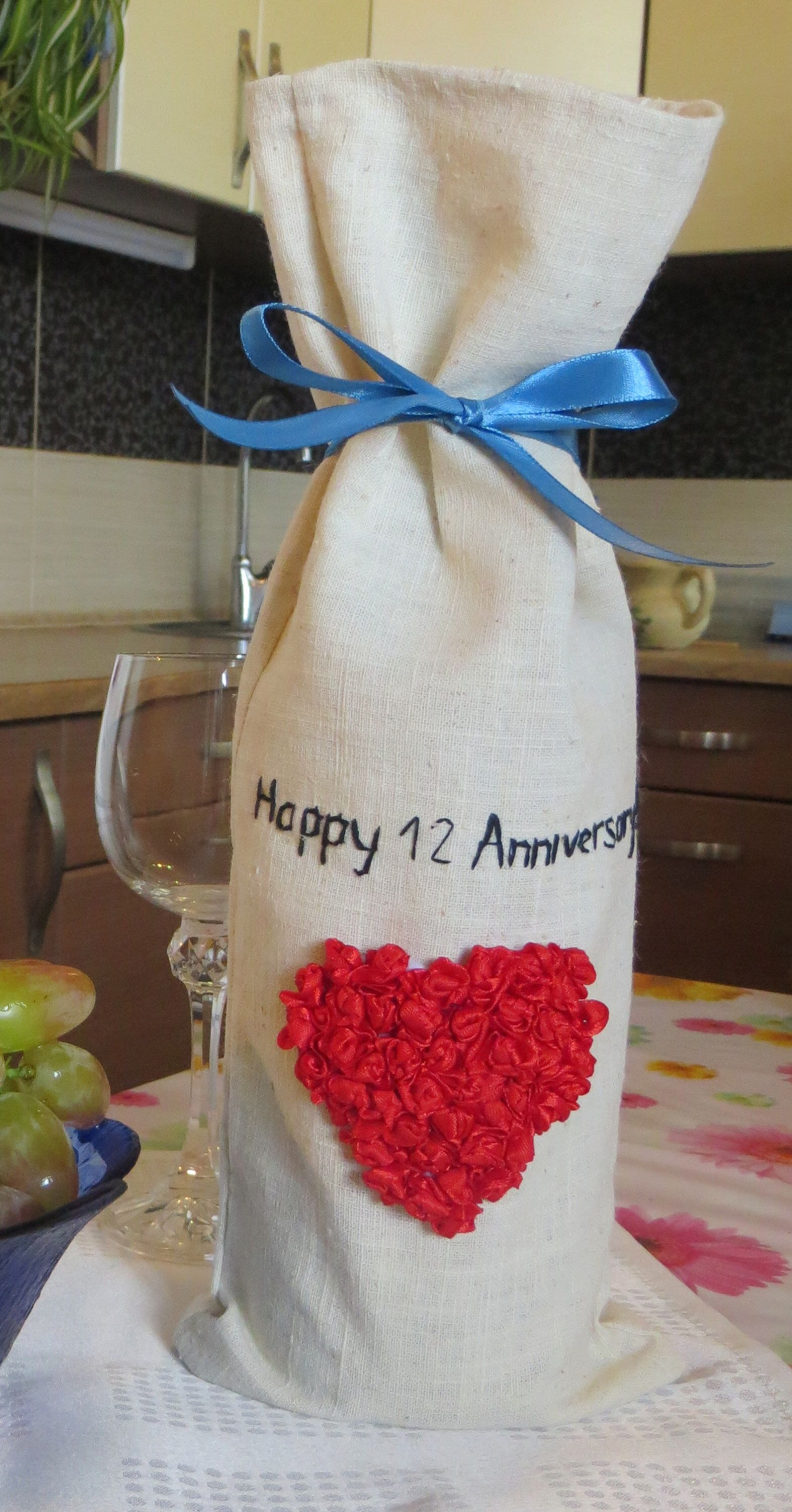 Silk anniversary gift for him her 12th anniversary gift a