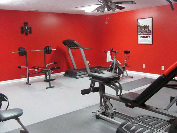 Eye of the tiger home gym could be a renovated garage